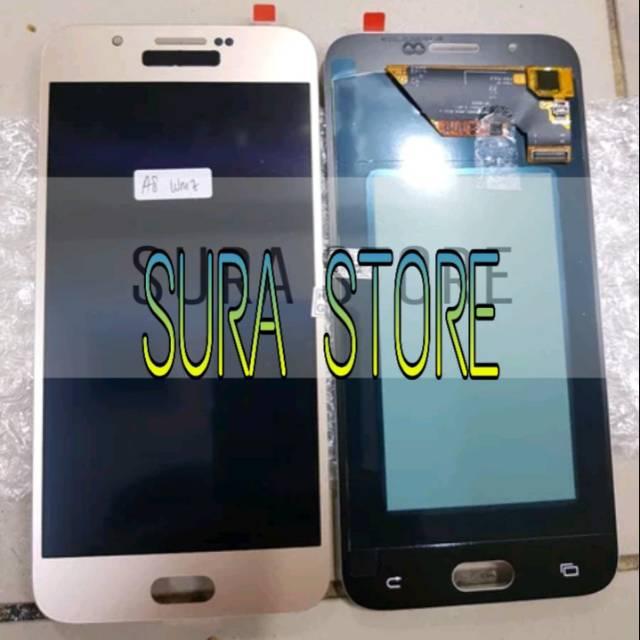 LCD 1Set Samsung A8 A800 2015 LCD Touchscreen Fullset Original Oled