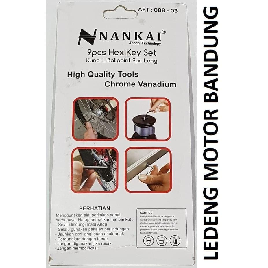 Kunci L Set 9pc Nankai Hex Key Wrench Ball Point Montir Mekanik Motor | Shopee Indonesia