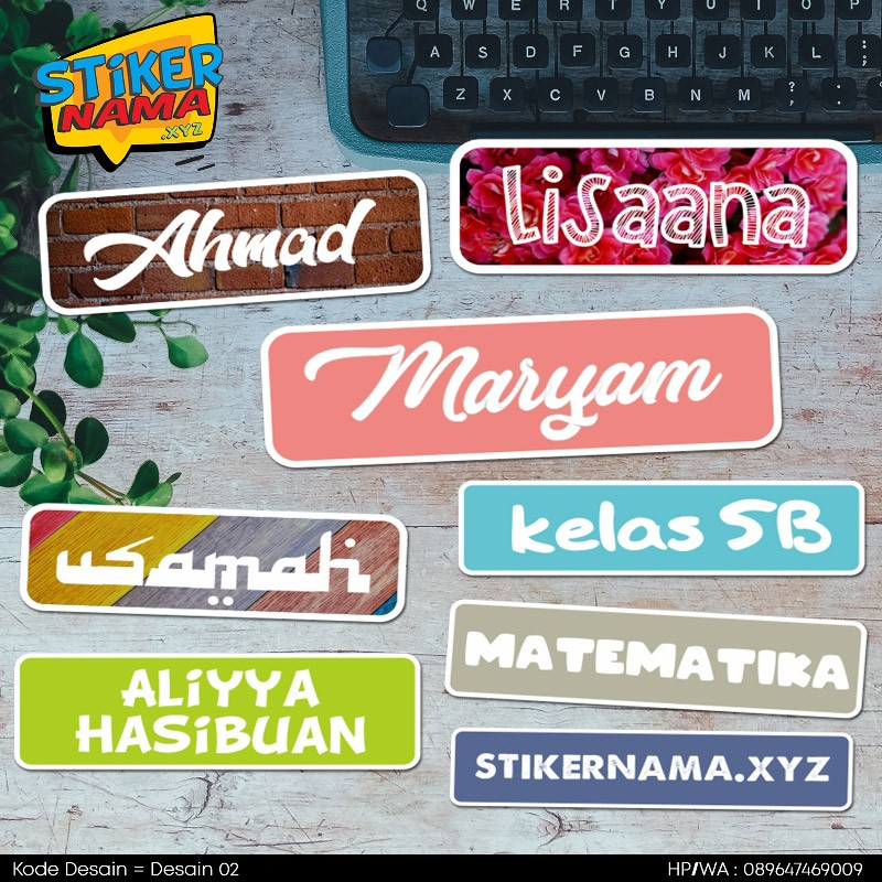 Up To 50 Pcs Stiker Nama Pakai Nama Sendiri Bahan Vinyl Anti Air Pilih Huruf Dan Warna Sendiri Shopee Indonesia