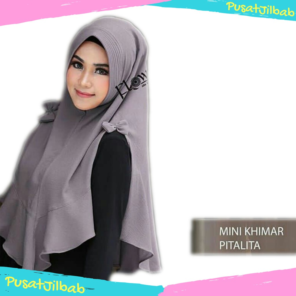 Jilbab Instan Hijab Syari Kerudung Khimar Rempel Pet Bubble Cantika | Shopee Indonesia
