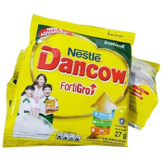 susu Dancow sachet kemasan 27 g