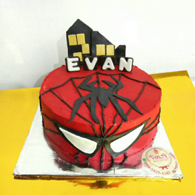 Kue Tart Malang Ultah Ulang Tahun Spiderman Birthday Cake Shopee Indonesia