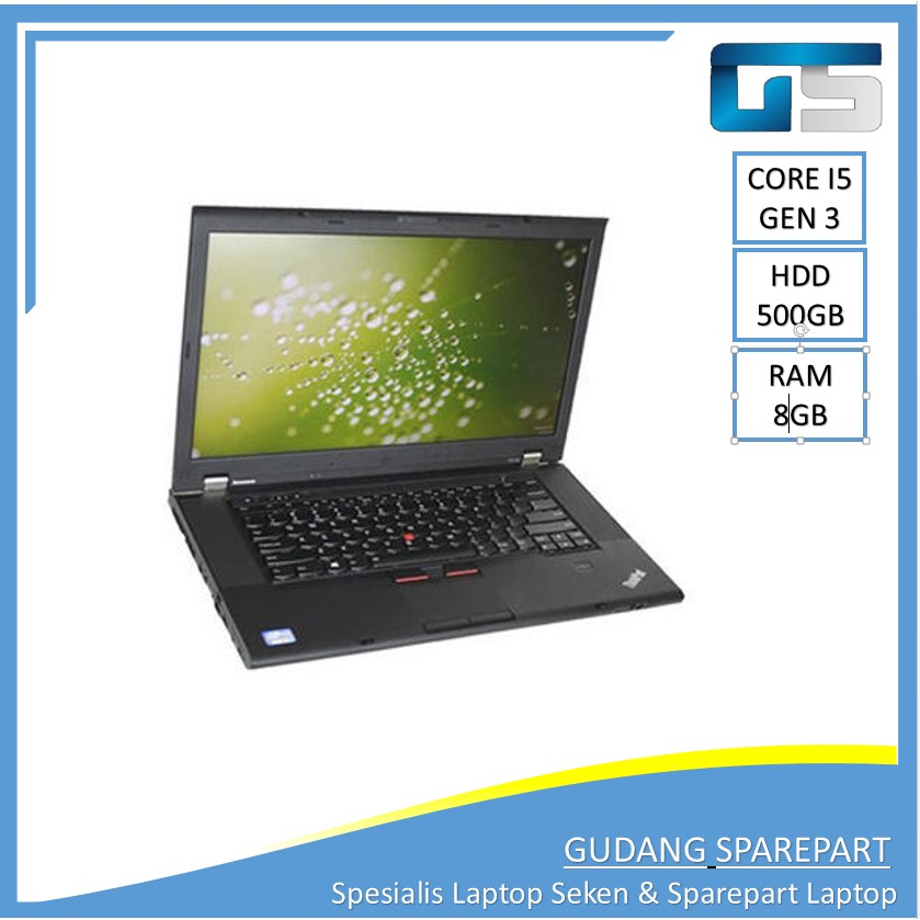 LENOVO THINKPAD W530  Core i7 RAM 8GB 500GB Laptop Bekas Murah Notebook Second Ultrabook Tipis