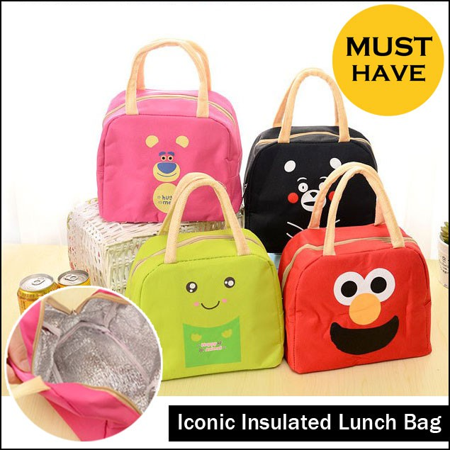 animal cute face lunch bag cooler tas bekal anak tahan panas dingin   Shopee Indonesia