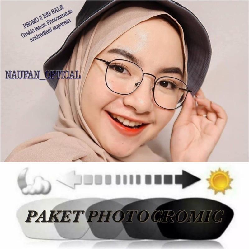Frame kacamata minus photocromic ( paket kacamata minus / photocromic ) 8261