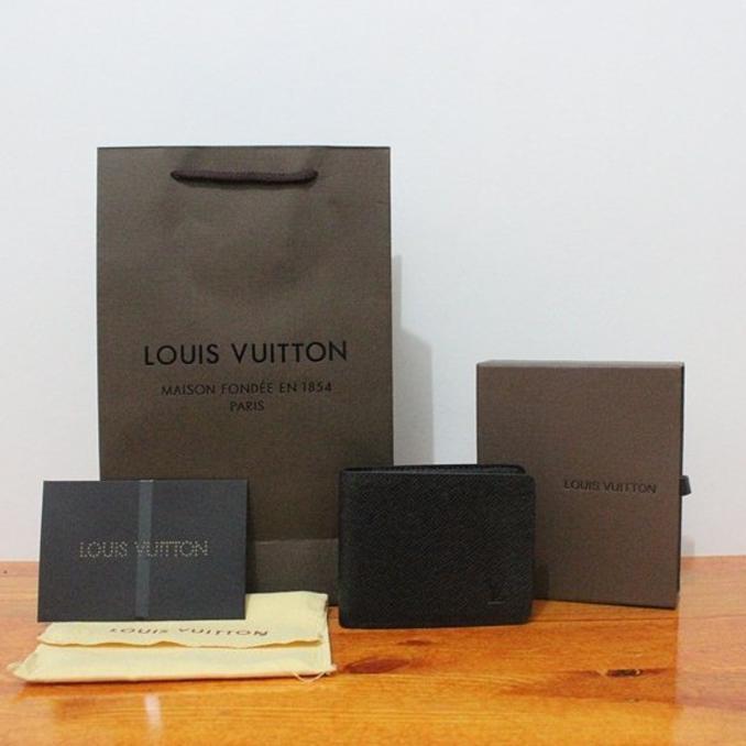 d1e237e6e52c Bigsale Jual Dompet Louis Vuitton Half Long Damier Graphite Mirror Quality  .