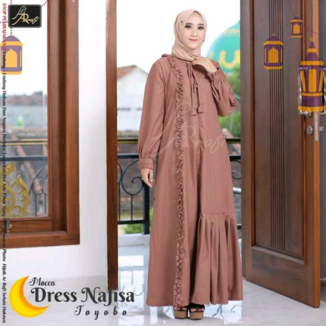 981673a215 Dress Nafisa hijab Arrafi | Shopee Indonesia