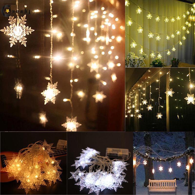Led Snow Shape String Light Snowflake