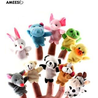 Bayar Di Tempat Ameesi 10 Pcs Mini Kartun Hewan Keluarga Boneka Jari Boneka  Bayi Mainan Tangan IQ ef9f45bf2d