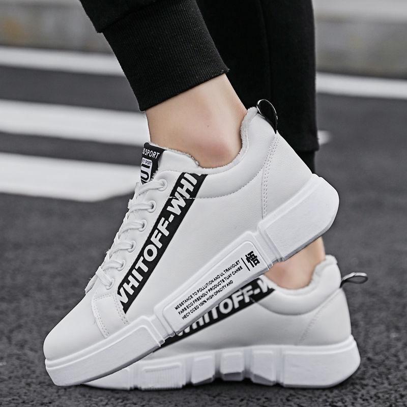℗Wangkati Crocodile Autumn winter plus velvet warm cotton shoes running sneakers men student Leisur | Shopee Indonesia