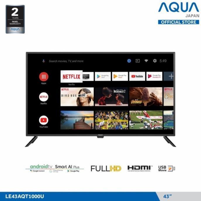 Led Tv Aqua 43 Inch 43Inch Le43Aqt1000U Le 43Aqt1000 U Fhd Android Terbaru