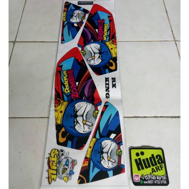 Striping Lis Sticker Variasi Rx King Doraemon Zombie Merah Biru Hitam Shopee Indonesia