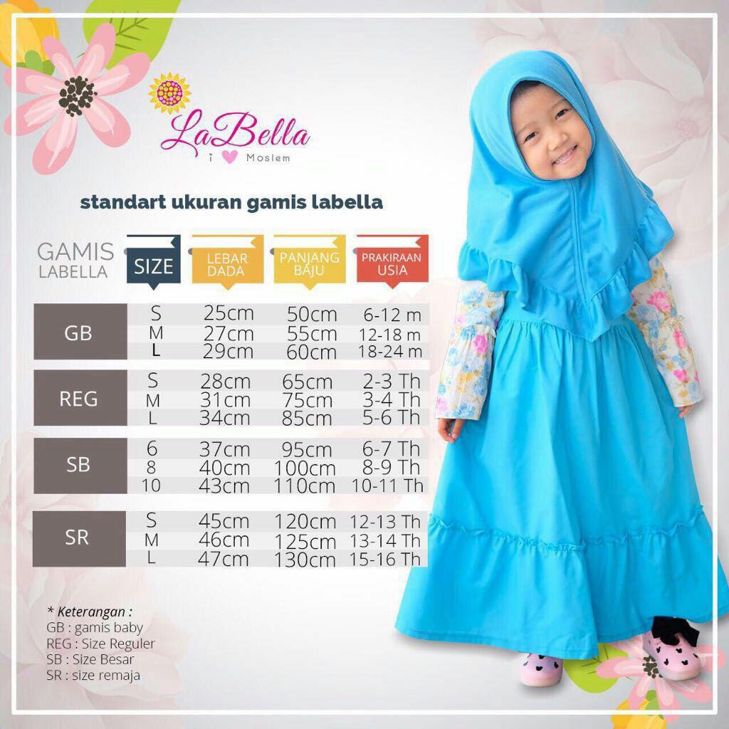 Usia 12-12 th gamis denim biru (12) / gamis anak / baju muslim anak