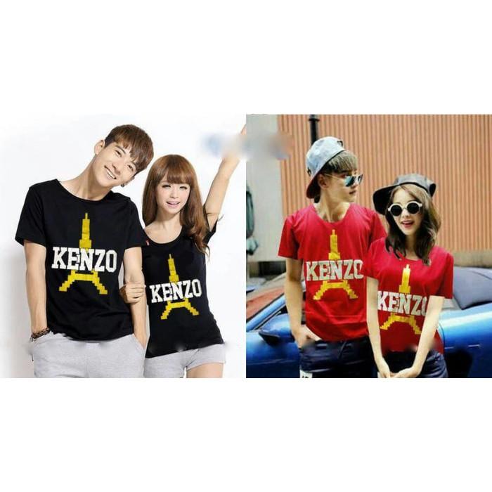 Kaos Couple / Kaos Pasangan / Baju Couple / Baju Pasangan A Hitam Putih   Shopee Indonesia