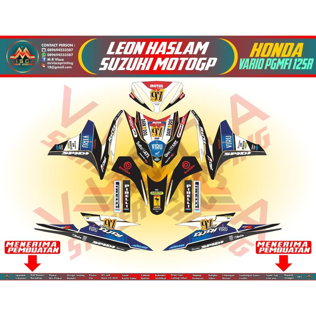DECAL STICKER HONDA VARIO PGM FI 125R LEON HASLAM SUZUKI MOTOGP