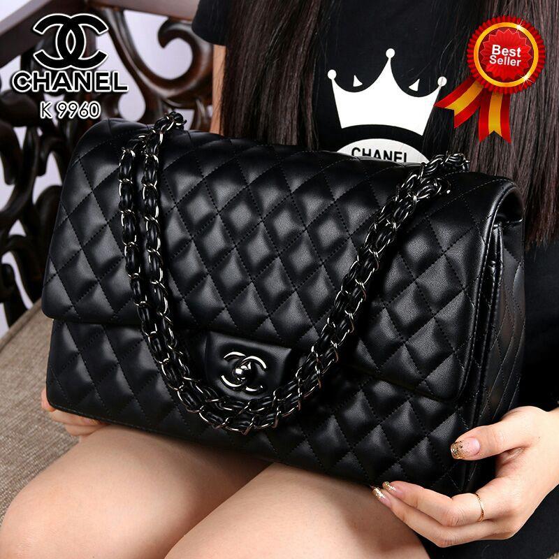 Tas Chanel Yuni Shara Black Hardware Semi Original  1b3efc0dbf