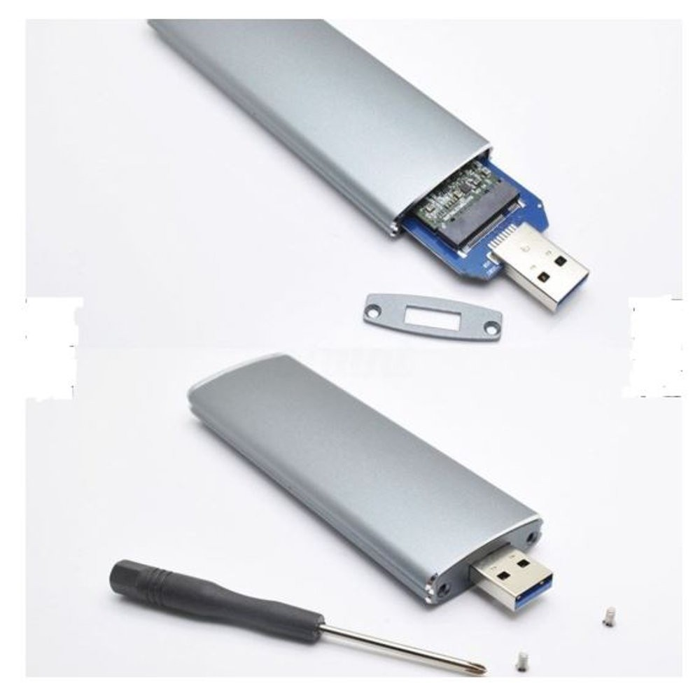 Casing Enclosure Adapter NGFF M.2 to USB 3.0 SSD untuk M2 | Shopee Indonesia