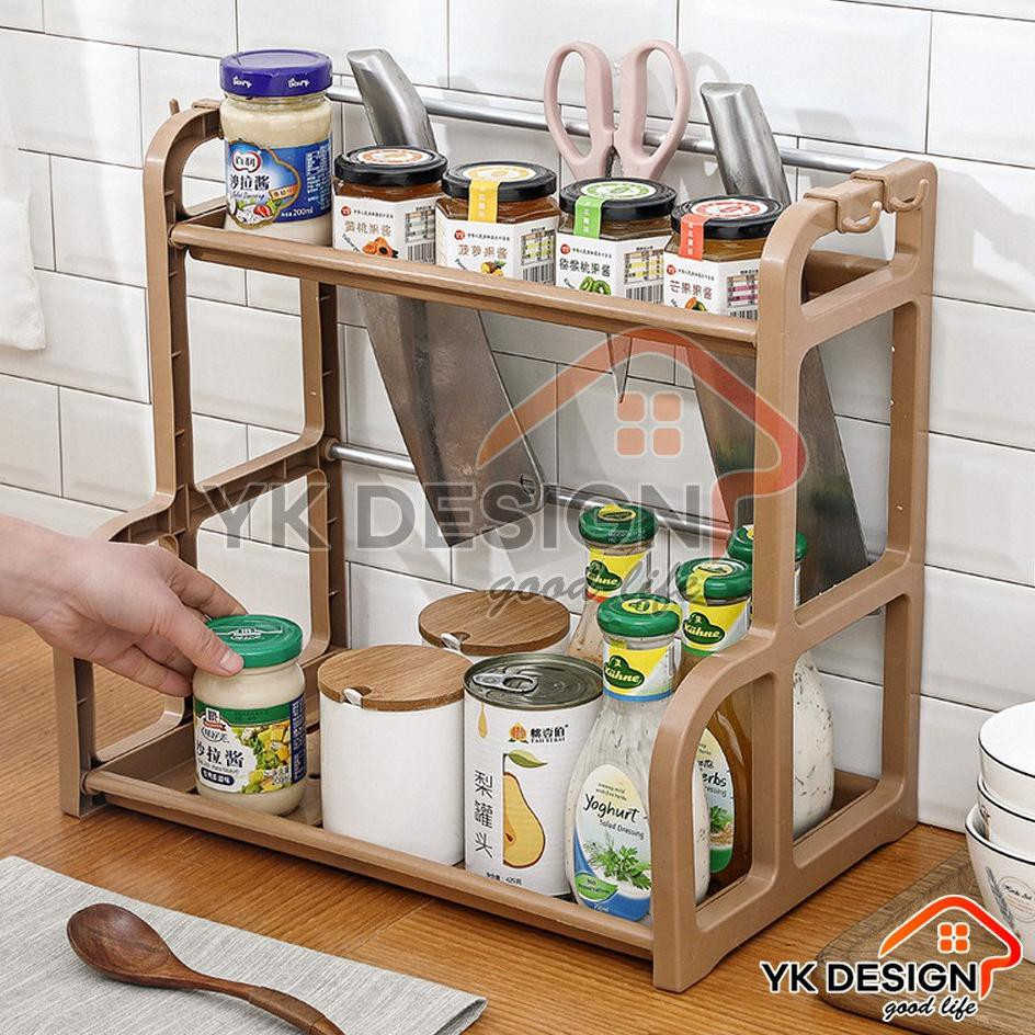 YK DESIGN YK-205 rak bumbu dapur perlengkapan dapur rak dapur ORI PACKING  BUBBLE   Shopee Indonesia