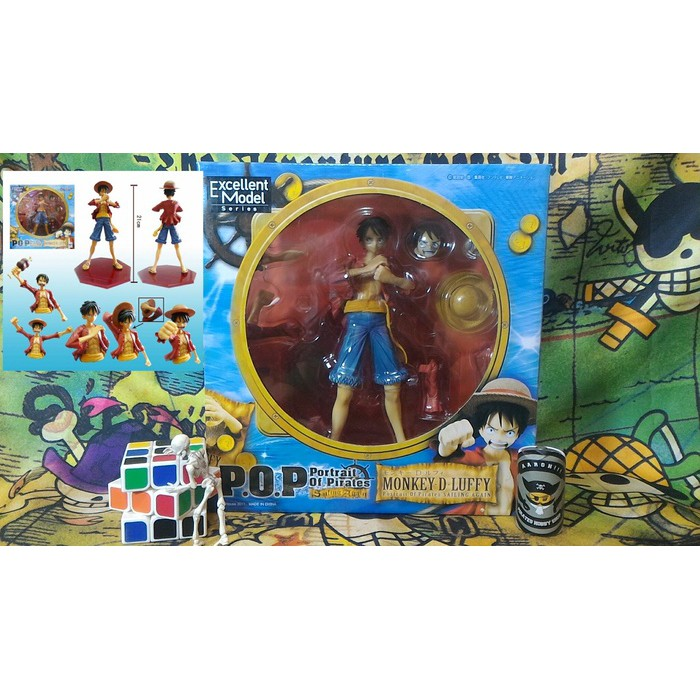 ONE PIECE Megahouse 2 1//8 Pvc Figure P.O.P Sailing Again Monkey D Luffy Ver