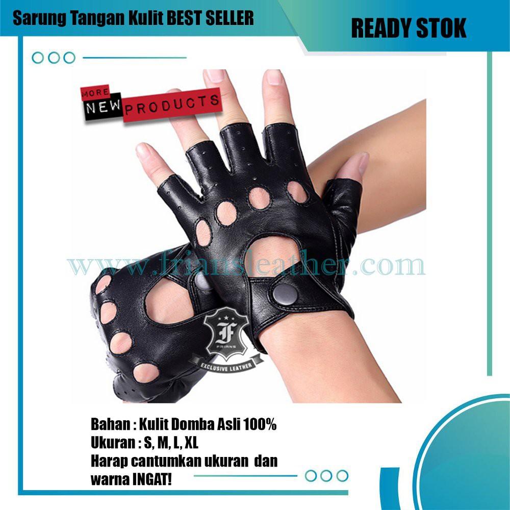Best Tas Kulit Domba Asli Garut Terbaik Shopee Indonesia Sarung Tangan Half Protection Brown Seller