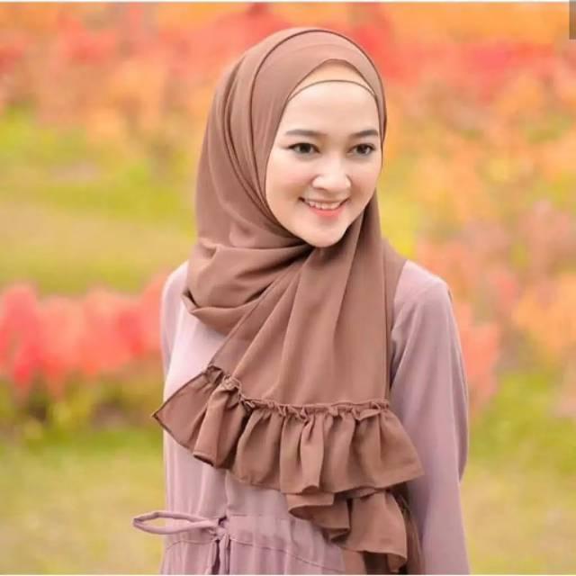 Eva Pashmina Diamond Rempel Jilbab Pashmina Rempel Diamond Hijab Pashmina Shopee Indonesia