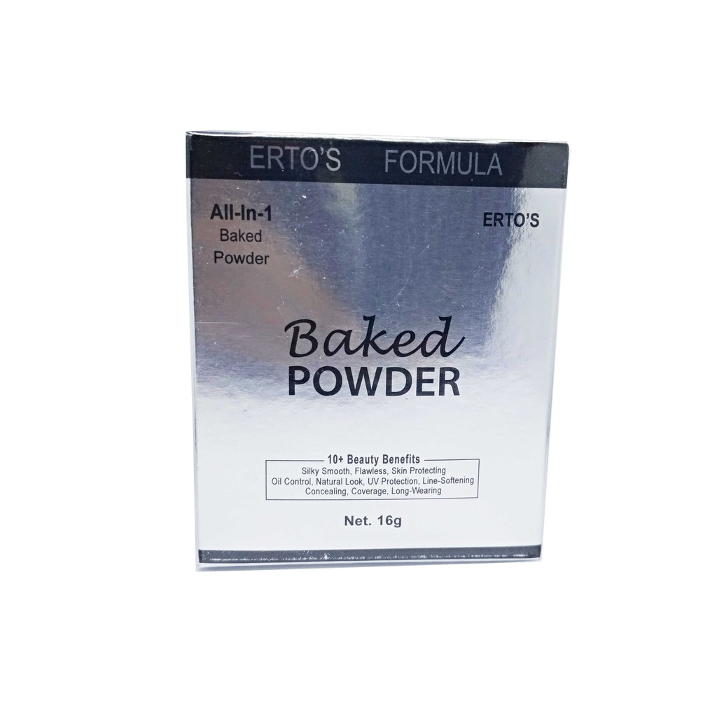 Ertos Baked Powder All In 1 Bedak Matte Glowing Shiny Flawless Translucent Transparent Light Shopee Indonesia