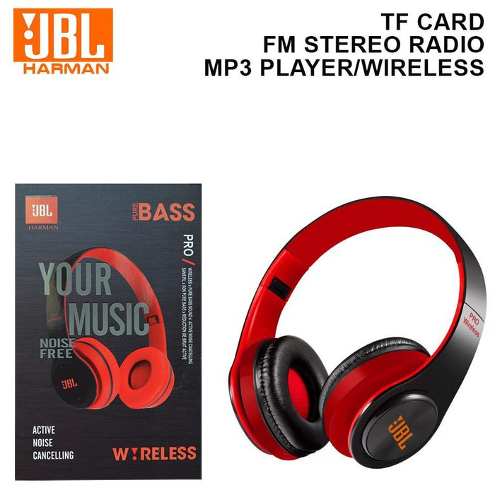 HEADPHONE BLUETOOTH JBL PRO Pure Bass | Headset Bluetooth JBL PRO