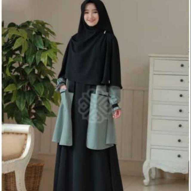 Elbina set /Gamis Wanita hijab