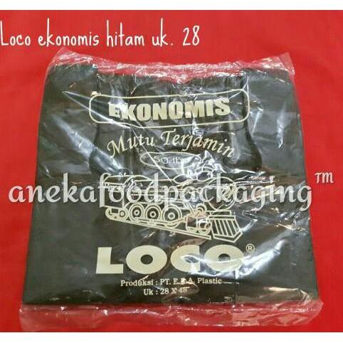 Kantong Plastik Loco Hitam Ekonomis Uk. 28x48 Terlaris 50lbr | Shopee Indonesia