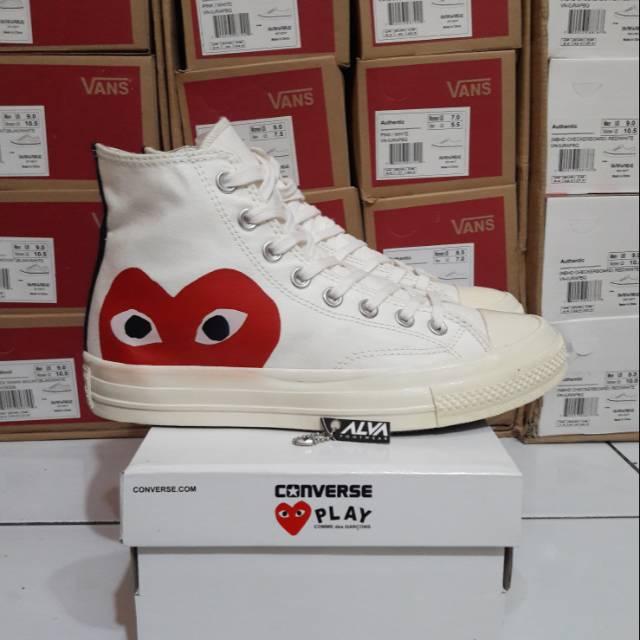f0cd76a9039e5b Sepatu Converse All Star 70s High x CDG Play Hide Love Off White ...