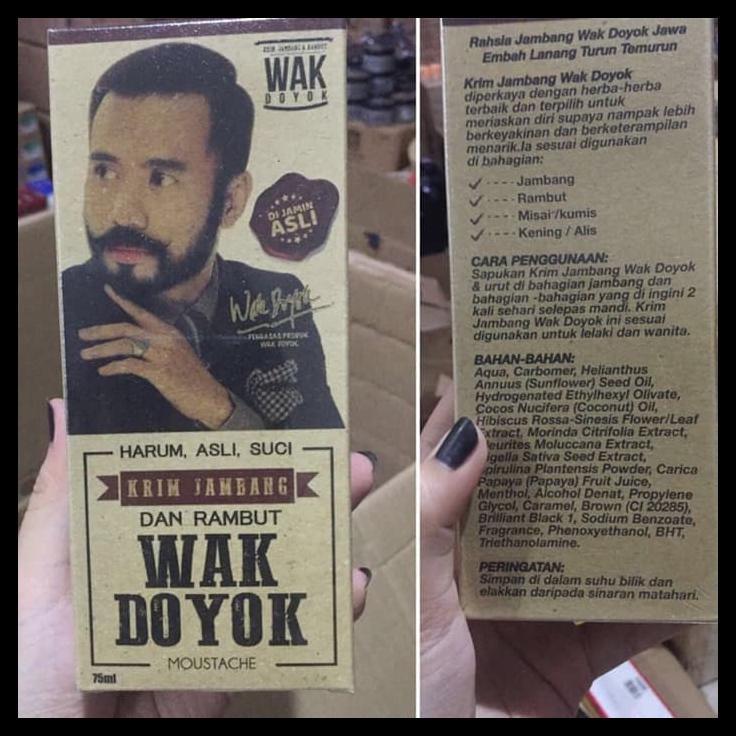 WAK DOYOK WAKDOYOK CREAM KRIM PENUMBUH JAMBANG, BEWOK, RAMBUT, KUMIS | Shopee Indonesia