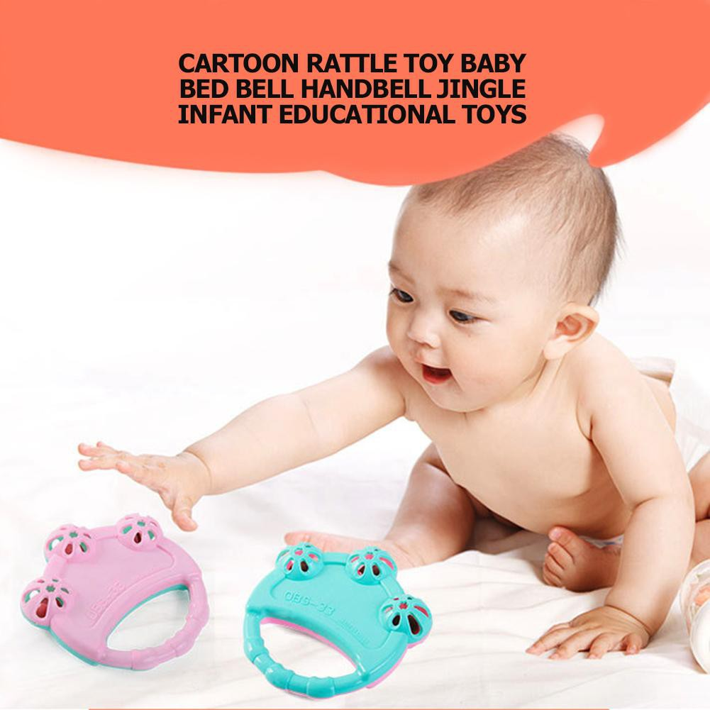 Cute Infant Baby Children Bell Rattles Toy Musical Educational Toy Color Random
