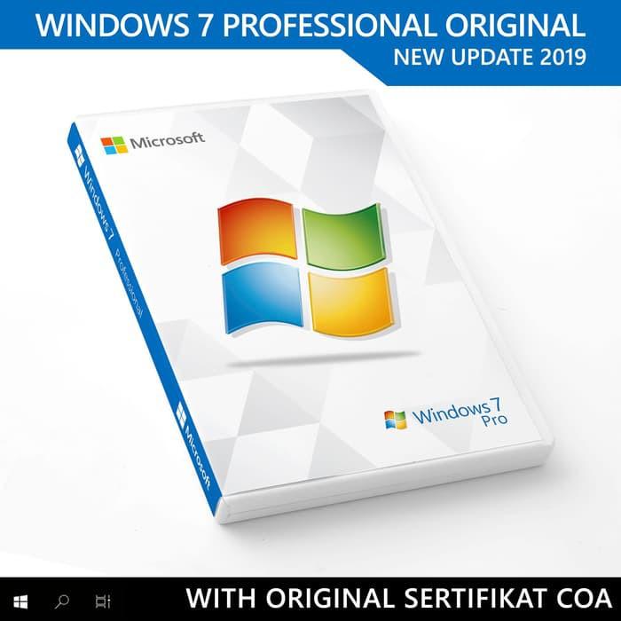 Windows 7 Pro Professional COA Original Lisensi + DVD Box Garansi
