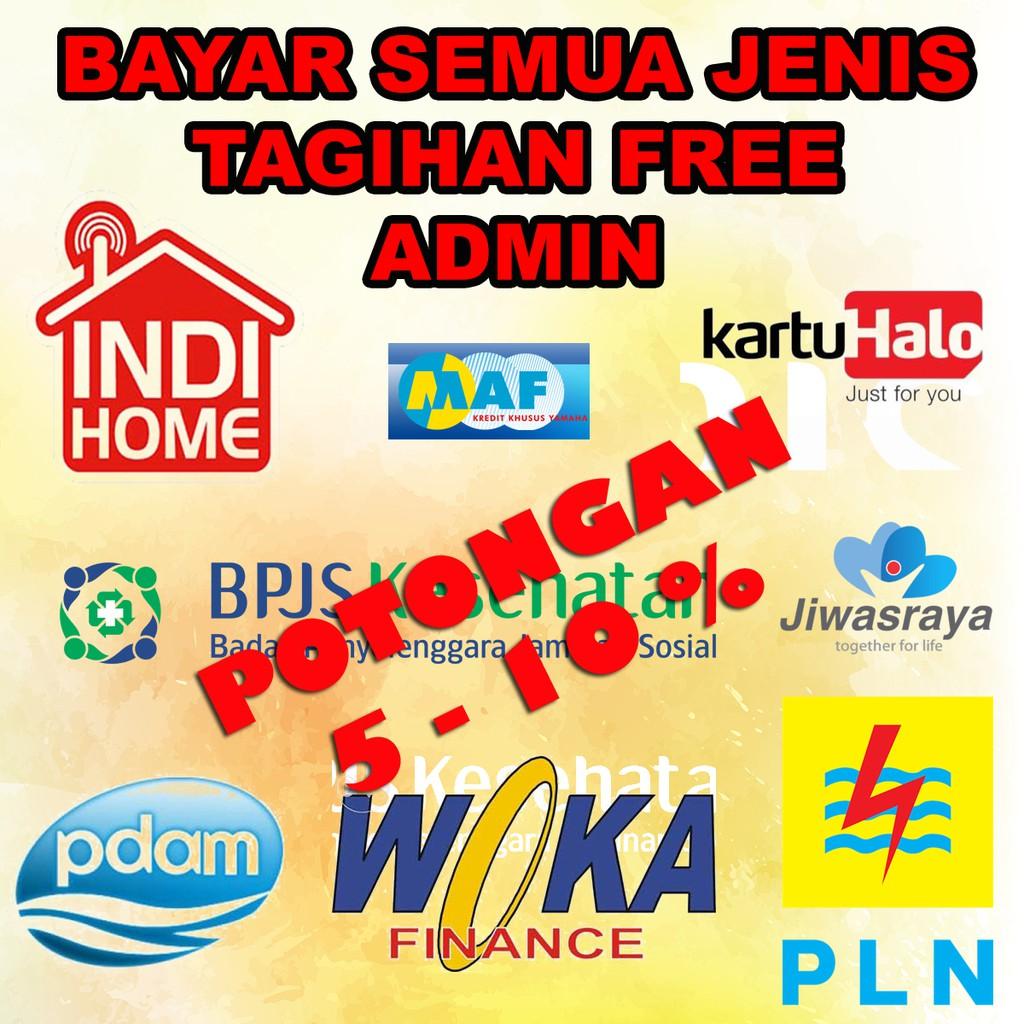 Promo Bayar Tagihan Free Admin Pln Indihome Finance Bpjs Pdam Kartu Halo Free Admin Shopee Indonesia