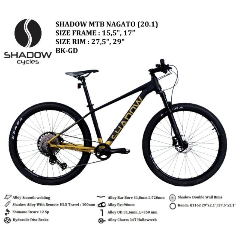 Sepeda MTB 29 inch Merk Shadow Nagato
