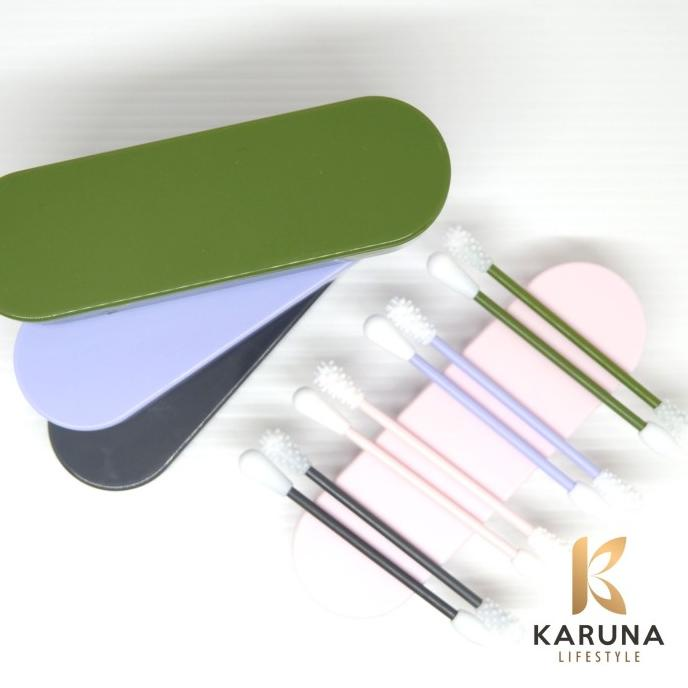 Reusable Cotton Bud Swab Silicone Pembersih Telinga Kosmetik