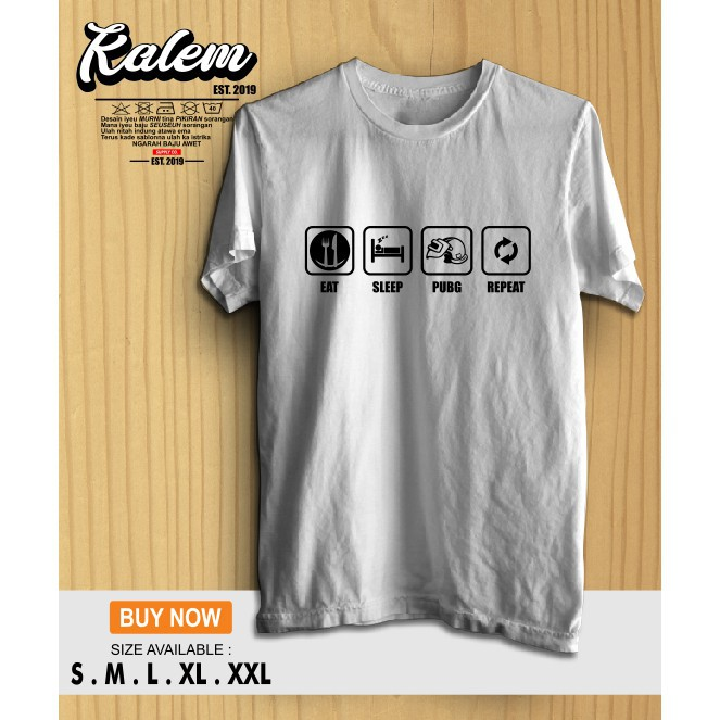 Kaos Baju Eat Sleep Pubg Repeat Desain Simple Kalemclothing Ideku
