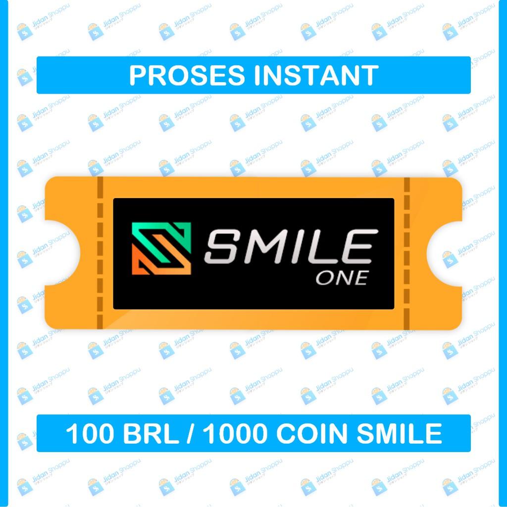 [Instant] Smile One Code (SOC) Koin R $ 100 BRL / 1000 Coin [Bukan PO]