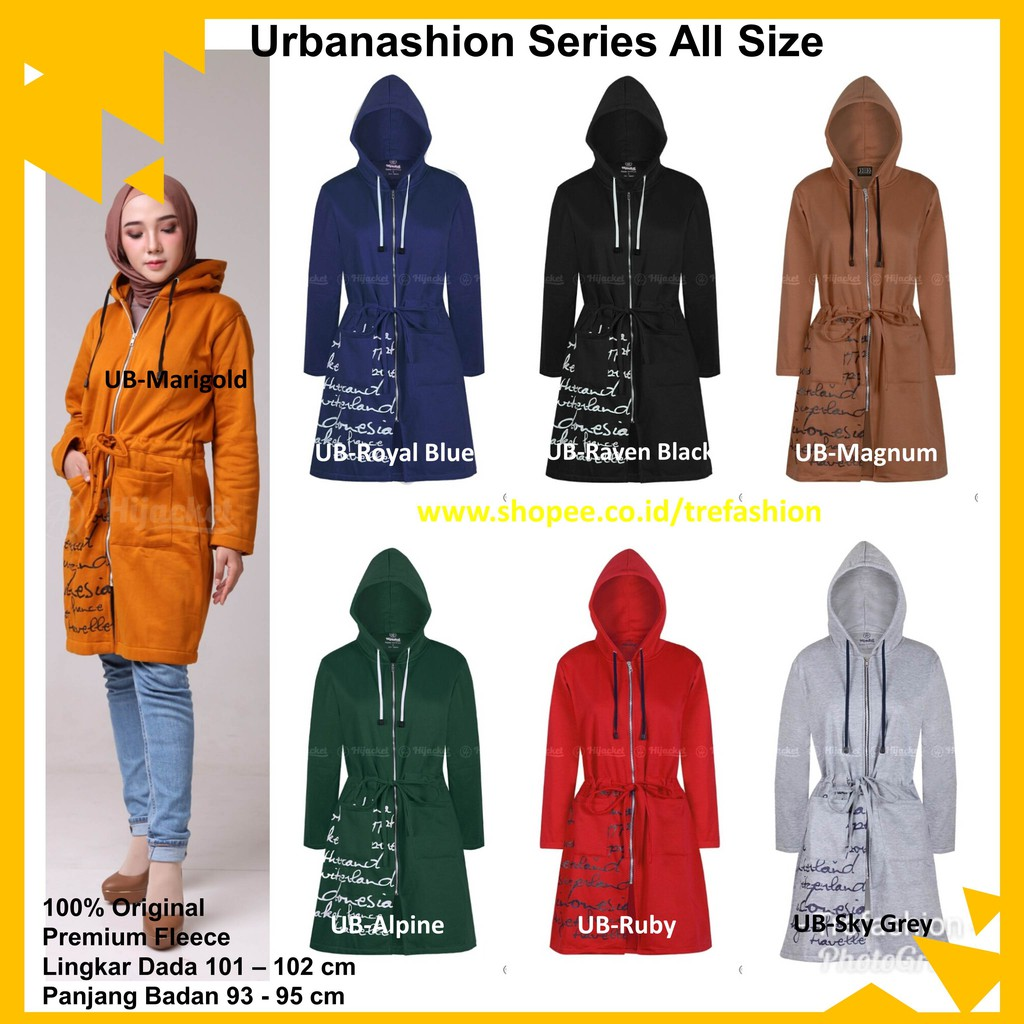 Jaket Hijaber Muslimah Hijacket Urbanashion Original All Size ... 05db2f40e1