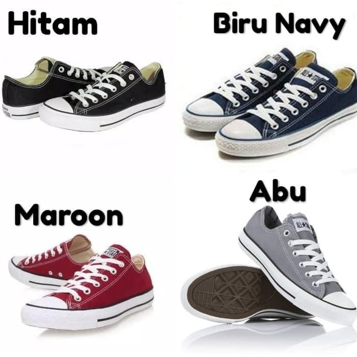 Sepatu Sneakers Pria Sepatu Star Bg95 Sepatu Casual All Star Hitam Low Hitam 36 Shopee Indonesia
