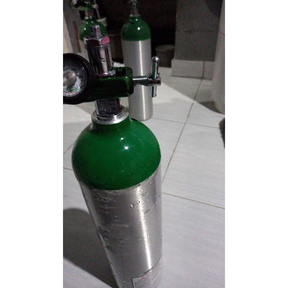BIG PROMO SALE.8.8 Baru Tabung Oksigen Mini 1/5 kubik / Tabung + Isi Oksigen pernafasan