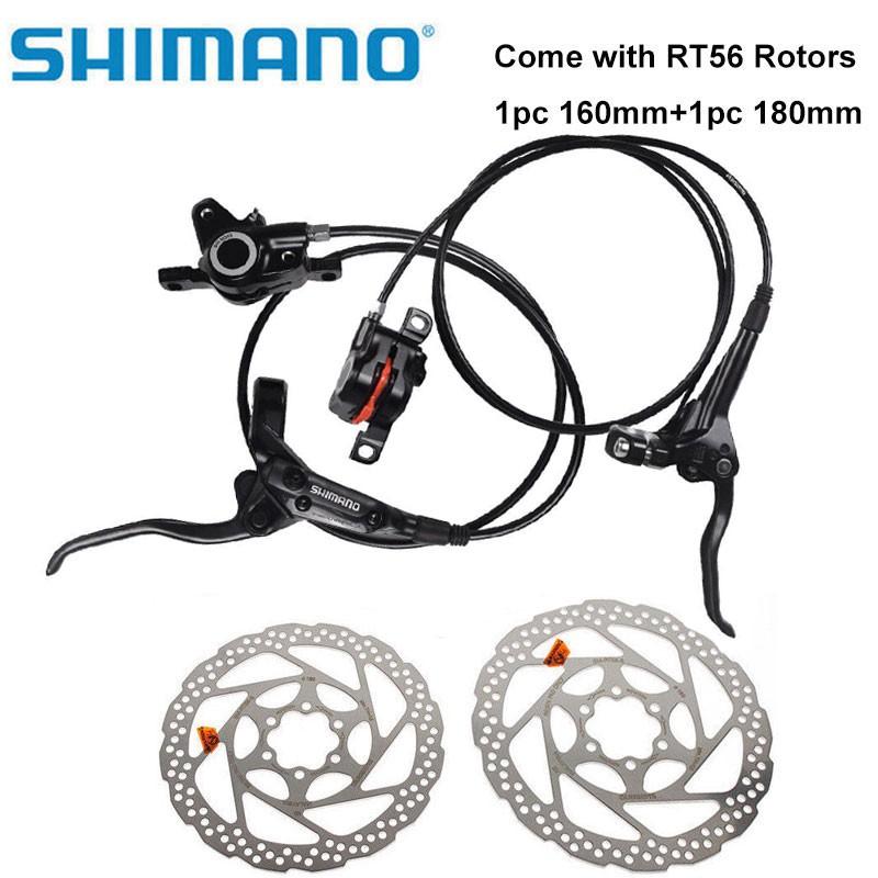 SHIMANO MT200 Bike Brake Hydraulic Disc Brakes Set Pre-Filled With RT56 Rotors