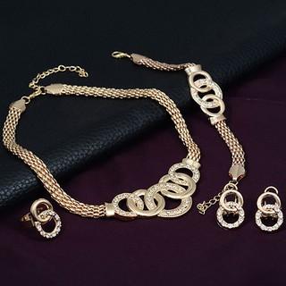 Set Perhiasan Cincin Chandelier/Gelang/Anting/Kalung ...