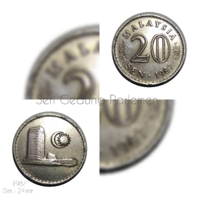 Koin Malaysia 20 Sen Gedung 1987