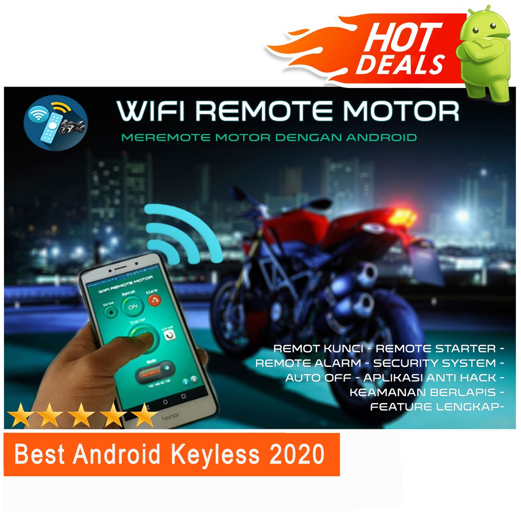 wifi remote motor android alarm keyless motor android