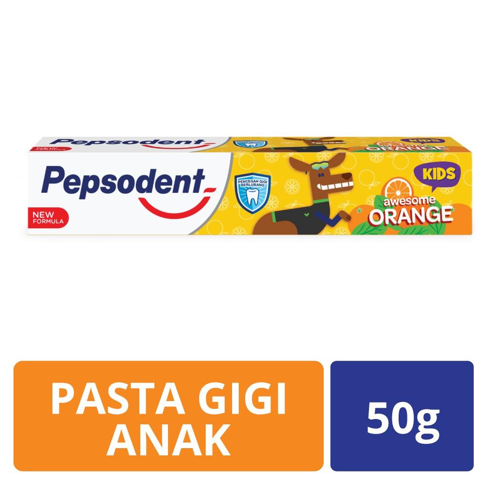 Pepsodent Junior Pasta Gigi Orange Fruity 50g Shopee Indonesia