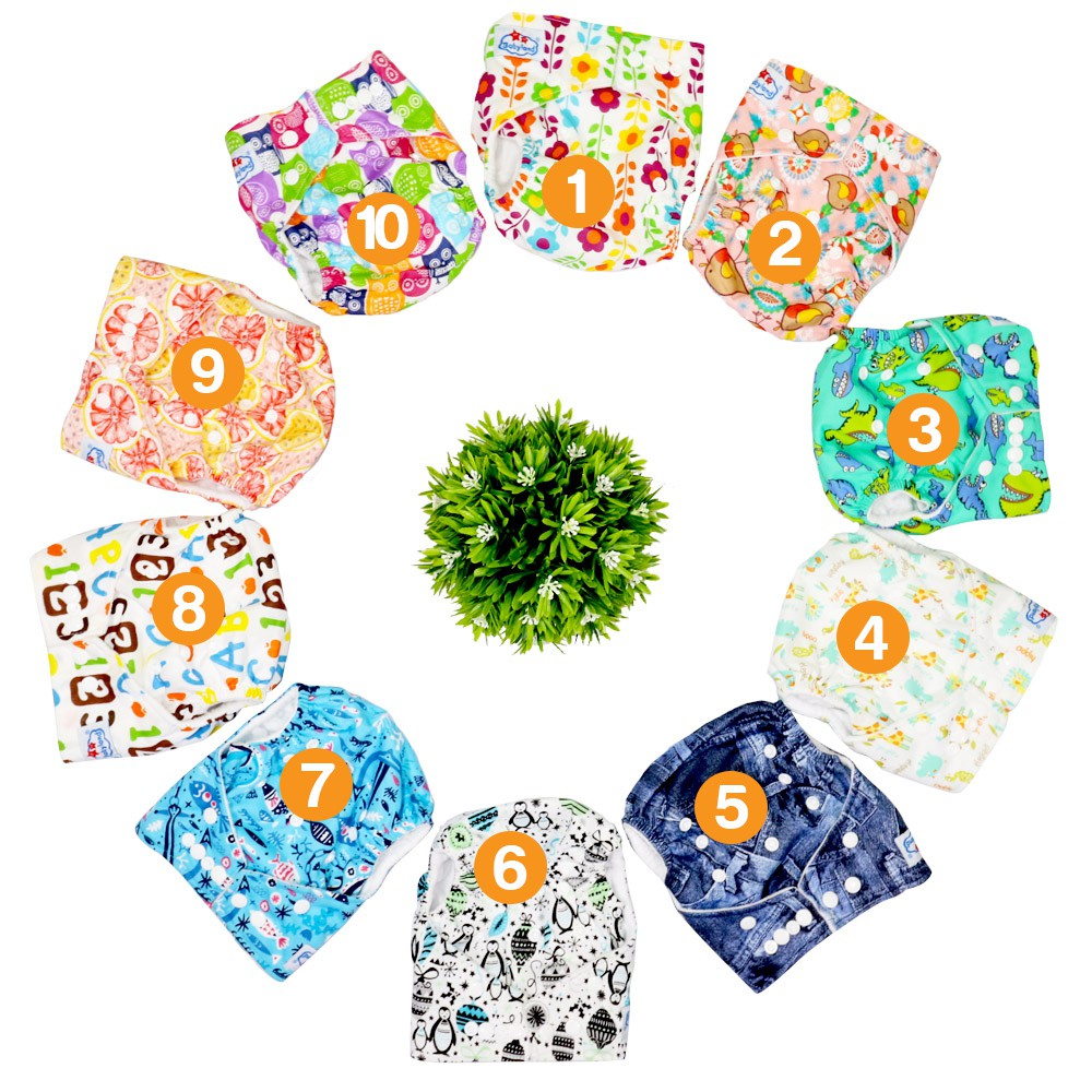 Clodi Popok Kain Bayi Sobi Overnight Universalcover Shopee Indonesia Ecobum Super Trainer Cloth Diaper Motif 11