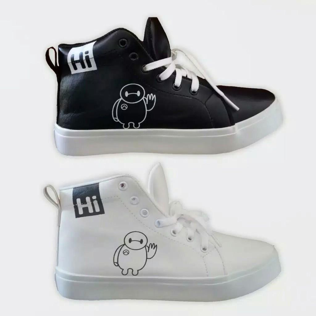 PROMO!!! Sepatu Wanita BOOT HI WHITE | BLACK