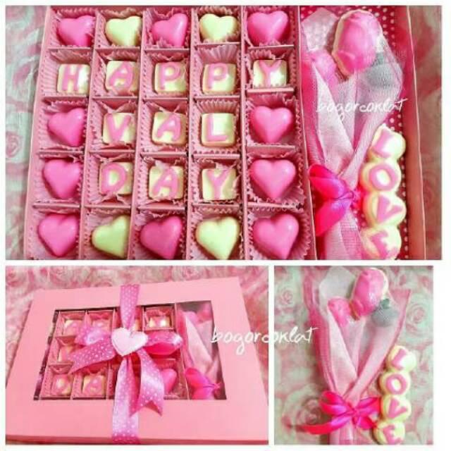 Hadiah Valentine Coklat Ucapan Buket Bunga Coklat Shopee Indonesia