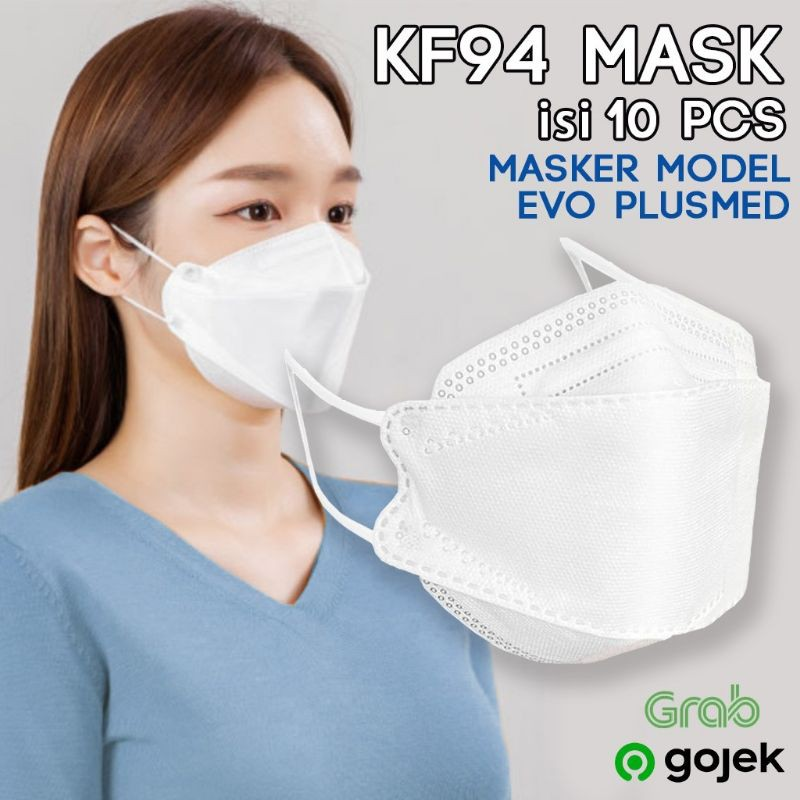 MASKER DEWASA EVO KF94 KOREA 4PLY ISI 10 pcs   Shopee